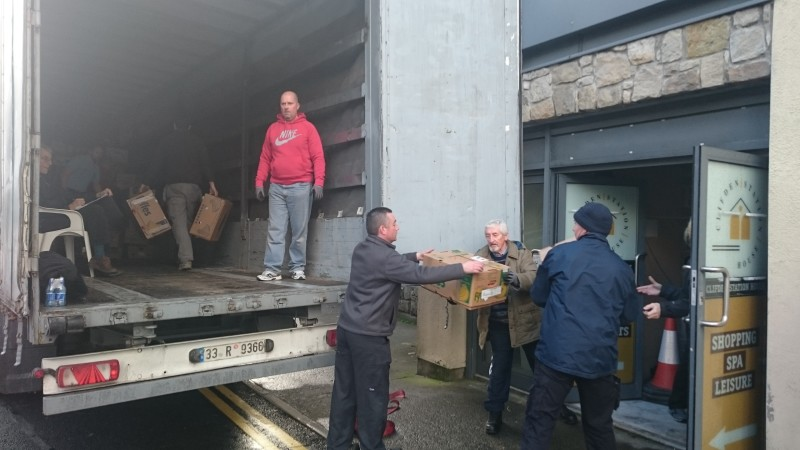 Loading the truck for Iraq